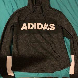 Dark grey adidas pullover hoodie